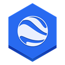earth, google RoyalBlue icon