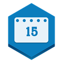 Calendar DarkCyan icon