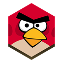 Angry, bird Black icon