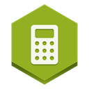 calculator YellowGreen icon