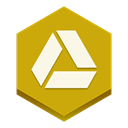 google, drive Goldenrod icon