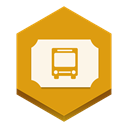 Ticket, Bus Goldenrod icon