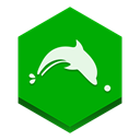 Browser, dolphin Green icon