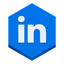 Linkedin DodgerBlue icon