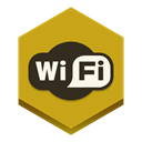 Wifi Goldenrod icon