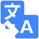 google, Translate DodgerBlue icon