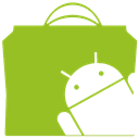 market, Android YellowGreen icon