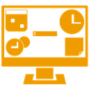 Alt, gadget Orange icon