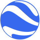 google, earth RoyalBlue icon