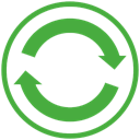 sync, Center LimeGreen icon