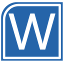 Alt, word SteelBlue icon