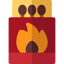 Energy, fire, matches, match, Tools And Utensils, Flame Brown icon