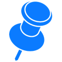 pin DodgerBlue icon