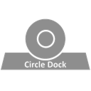 Circle, Dock Gray icon