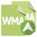 File, wma up, Wma, Format, Up DarkKhaki icon