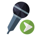Microphone, right Black icon