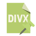 Divx, File, push, pin, Format DarkKhaki icon