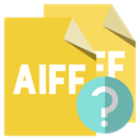File, Format, help, Aiff Goldenrod icon