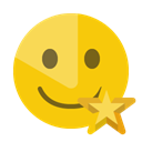 smiley, star Gold icon
