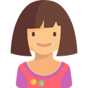 young, profile, Girl, kid, people, user, Avatar, Child DarkOliveGreen icon