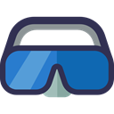 sea, goggle, Goggles, sports, Dive, Summertime, Diving DarkSlateGray icon