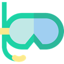 goggle, Goggles, Diving, Summertime, sea, Dive, Snorkel, sports LightSeaGreen icon