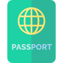 identification, technology, travel, Identity, document, passport LightSeaGreen icon