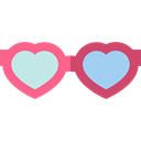 vision, Heart Shaped, romantic, valentines, romance, love, fashion, sunglasses Black icon