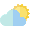 Clouds, Atmospheric, Cloudy, Cloud, weather, sky, Cloud computing PowderBlue icon