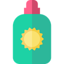 Beach, Holidays, Sun Cream, Sun Protection LightSeaGreen icon