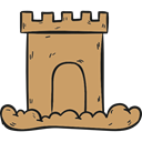 Sand Castle, medieval, buildings, Toy, Beach, childhood, Summertime DarkKhaki icon