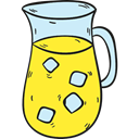 Refreshment, Pitcher, sugar, beverage, Summertime, Lemonade, drink, food Yellow icon