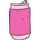 Food And Restaurant, food, soda, sugar, Can, drink HotPink icon