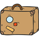 luggage, travelling, suitcase, Tools And Utensils, baggage DarkKhaki icon