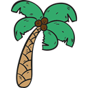Beach, tropical, Summertime, Palm Tree, Botanical, nature, summer Black icon