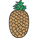 food, Fruit, Foods, fruits, Food And Restaurant, pineapple, pineapples, Healthy Food, natural, organic Black icon