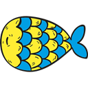 fish, Supermarket, fishes, Animals, food, Animal, meat, Foods, Meats Black icon