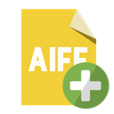 Format, Add, File, Aiff Goldenrod icon