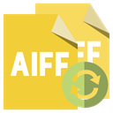 refresh, Aiff, File, Format Goldenrod icon
