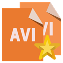 star, File, Format, Avi Chocolate icon