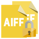 Format, Lock, Aiff, File Goldenrod icon