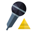 pyramid, Microphone Black icon