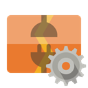 vertical, Gear, Disconnect SandyBrown icon
