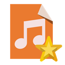 star, type, Audio, File Chocolate icon
