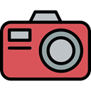 picture, interface, digital, photo camera, technology, photograph IndianRed icon