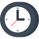 Clock, time, Wait, hour, waiting DarkSlateGray icon