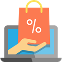 Multimedia, shopping cart, online shopping, website, Business, online shop, Broswer, Commerce And Shopping, web page Coral icon