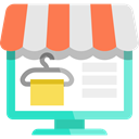 website, Broswer, Commerce And Shopping, shopping cart, online shopping, web page, Multimedia, Business, online shop Gainsboro icon