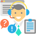 Call, Commerce And Shopping, Telemarketer, people, customer service, technology, Avatar, Headphones, support, Microphone Gainsboro icon