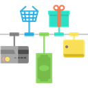 online shopping, Broswer, shopping cart, online shop, Business, Multimedia, Commerce And Shopping, website, web page Icon